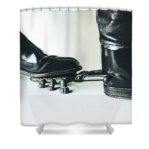 Studio. Boots And Boot Pull. Shower Curtain
