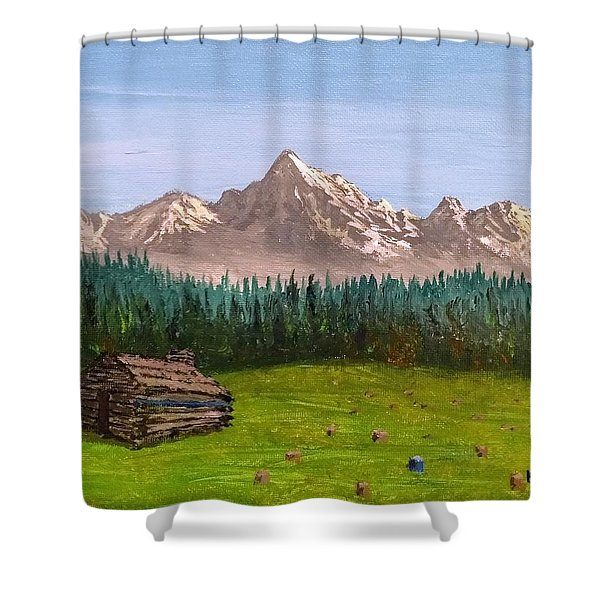 Shower Curtain featuring the painting Stump by Kevin Daly