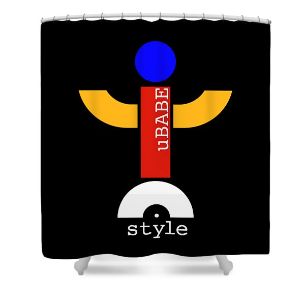 Style Black Shower Curtain