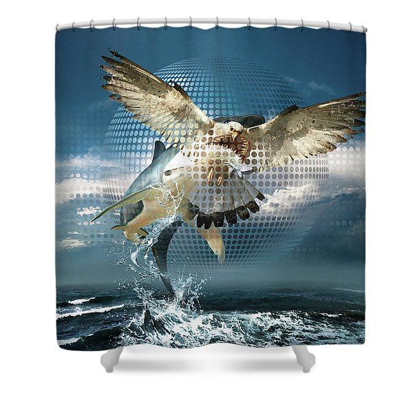 Subliminal Message Or  Optical Illusion Of Conscious Perception Shower Curtain