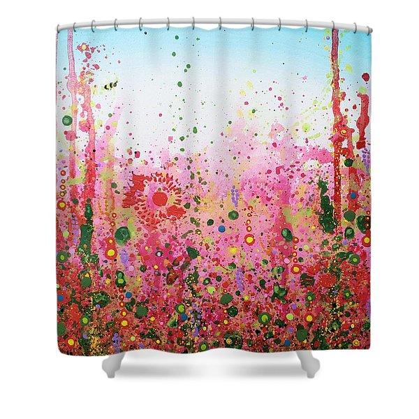 Sugar Bee Shower Curtain