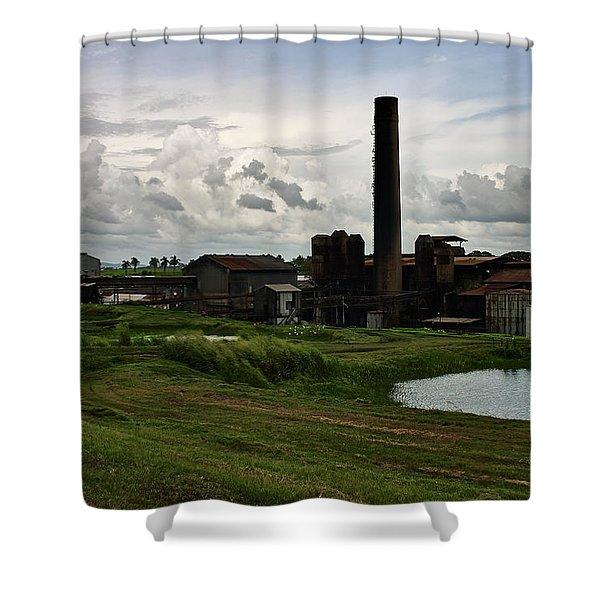 Sugar Factory I, Usine Ste. Madeleine Shower Curtain