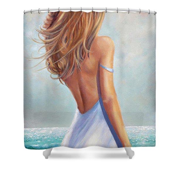Summer Beach Shower Curtain