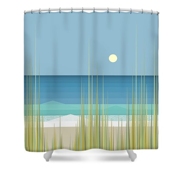 Summer Day At The Beach - Square Shower Curtain