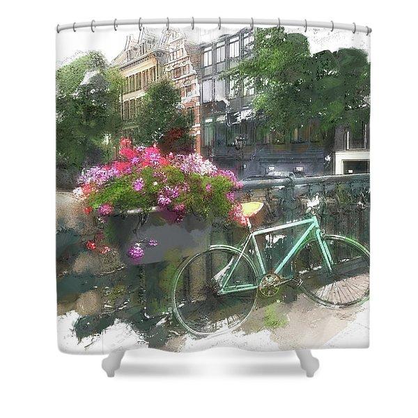 Summer In Amsterdam Shower Curtain