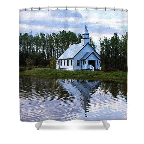 Summer In The Valley - Hope Valley Art Shower Curtain