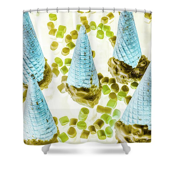 Summer Inversion Shower Curtain