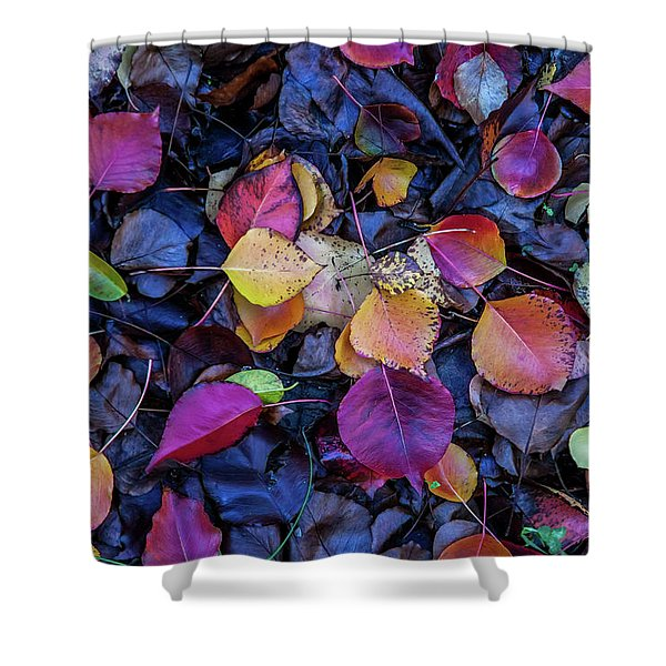 Summer Leaves Shower Curtain