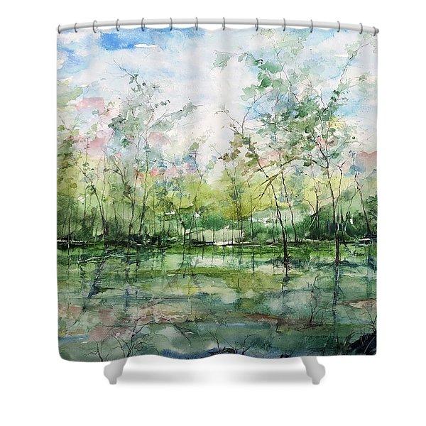 Summer Silence  Shower Curtain