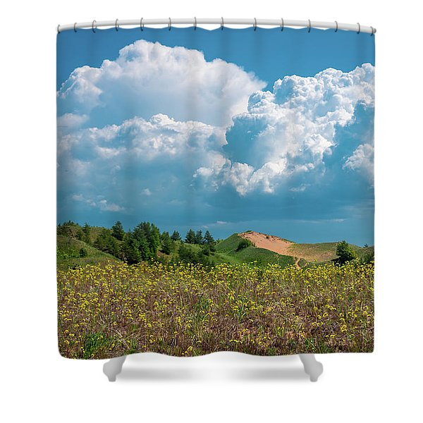 Summer Storm Over The Dunes Shower Curtain