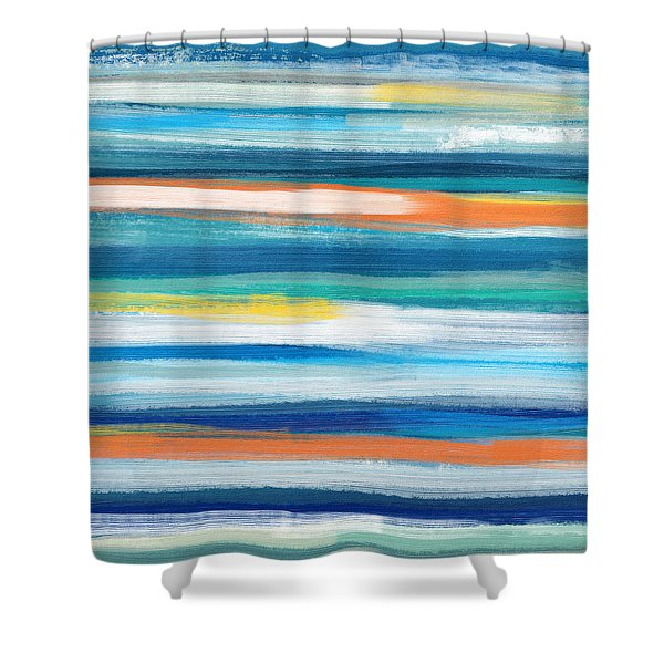Summer Surf 3- Art By Linda Woods Shower Curtain
