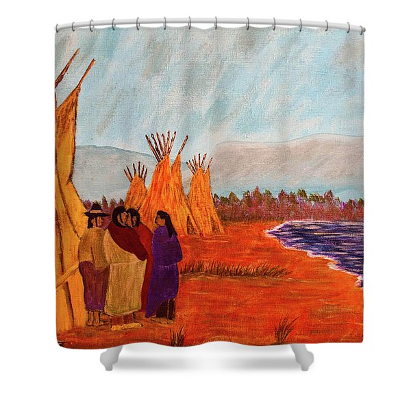 Summer Vacation Shower Curtain