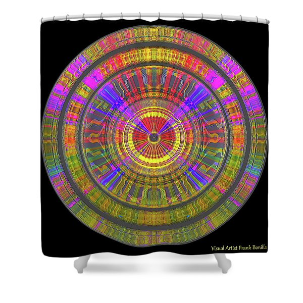 Shower Curtain featuring the digital art Sun 02112019 by Visual Artist Frank Bonilla