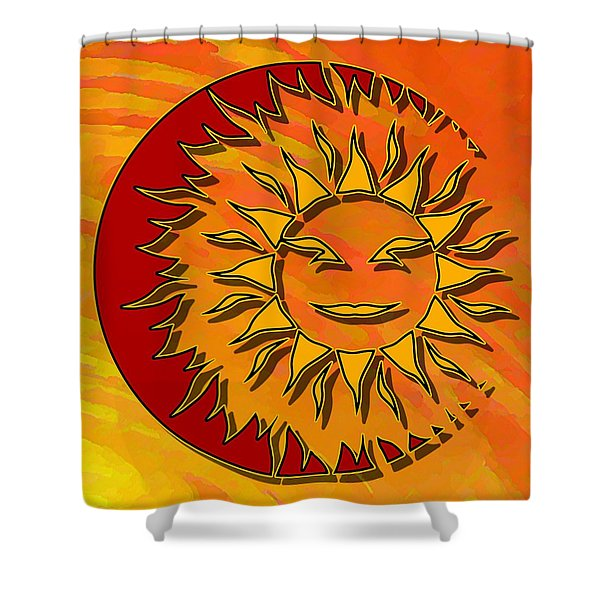 Sun Eclipsing The Moon Shower Curtain
