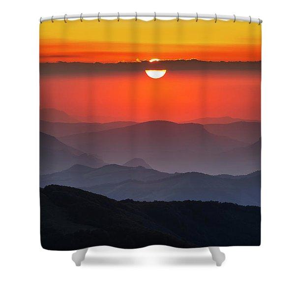 Sun Eye Shower Curtain