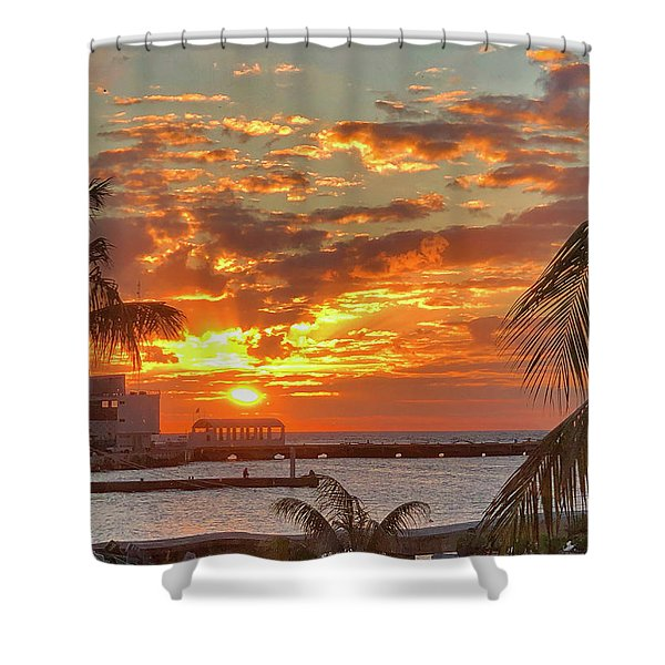 Sun Is Setting Shower Curtain