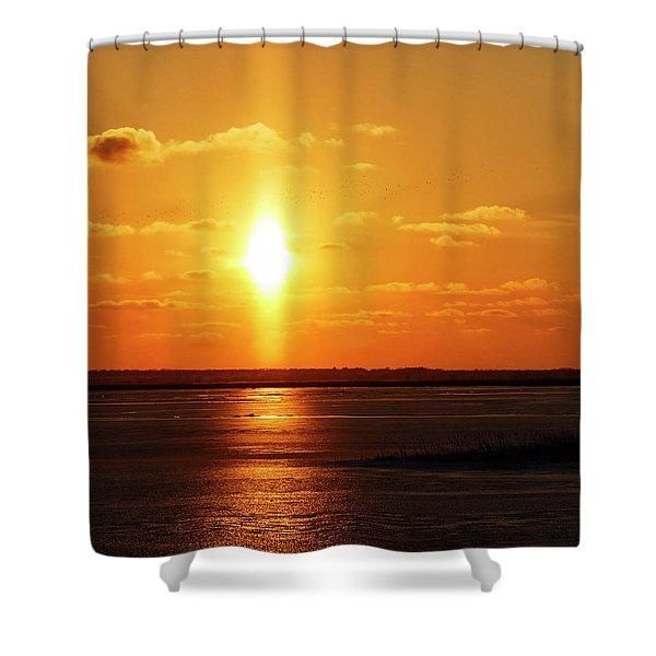 Shower Curtain featuring the photograph Sun Pillar 01 by Rob Graham