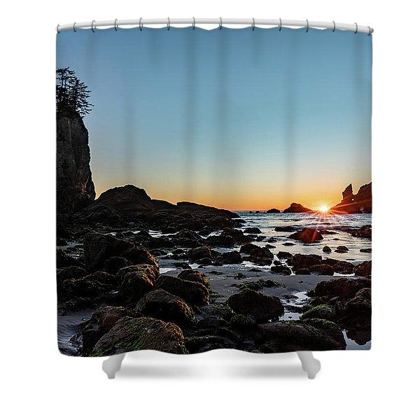 Sunburst At The Beach Shower Curtain