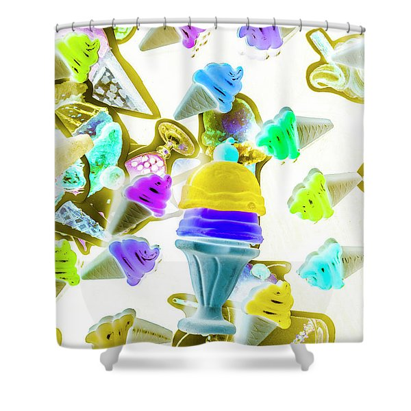 Sundae. Everyday. Shower Curtain