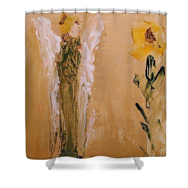 Sunflower Angel Shower Curtain