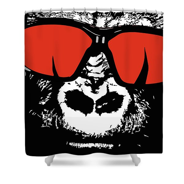 Sunglasses Gorilla Shower Curtain