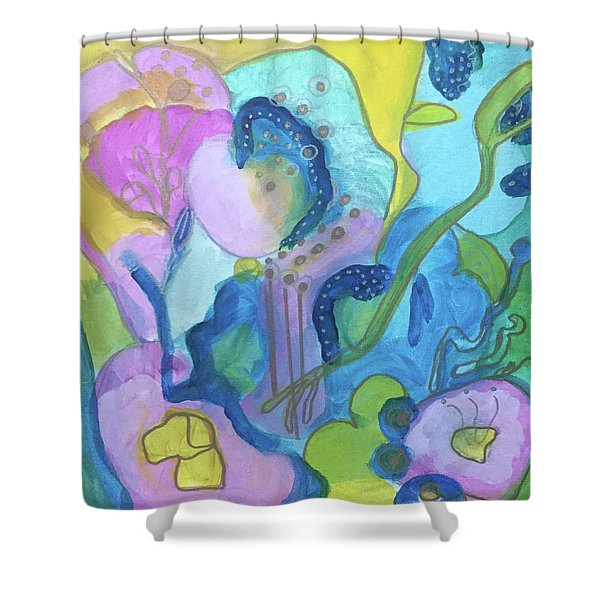 Sunny Day Abstract Shower Curtain