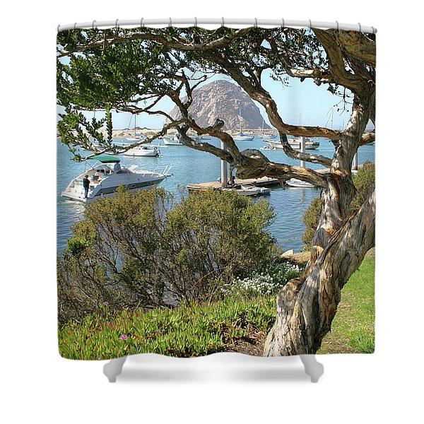 Sunny Day At Morro Bay Shower Curtain