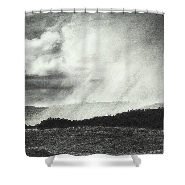 Sunny Rainfall Shower Curtain