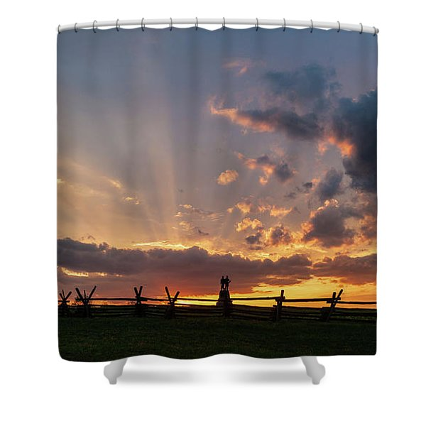 Sunrays At Sunset Shower Curtain