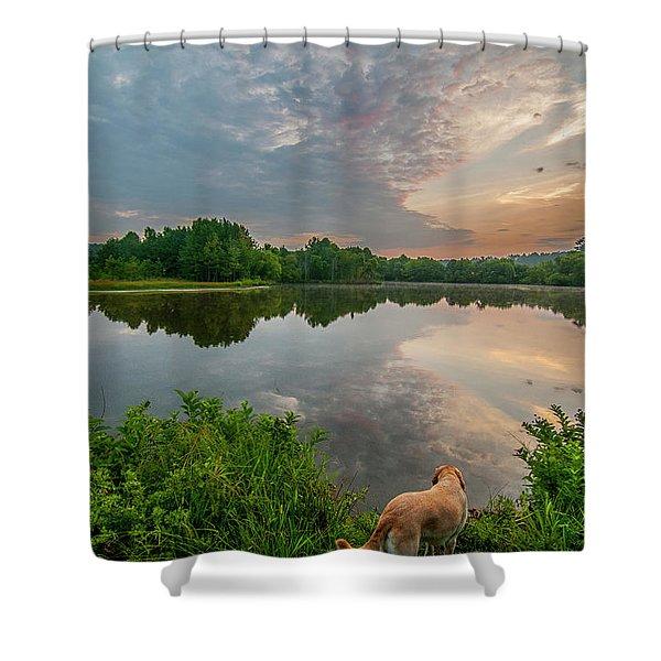 Sunrise At Ross Pond Shower Curtain