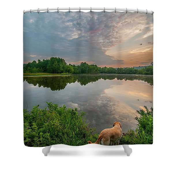 Sunrise At Ross Pond Shower Curtain
