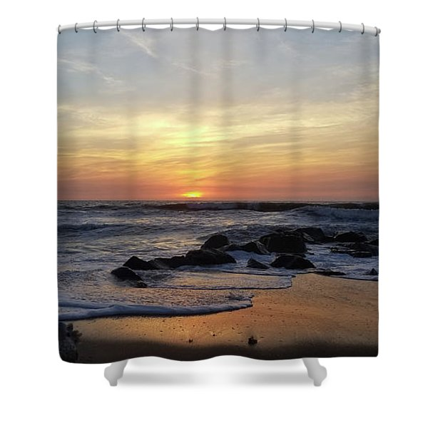 Sunrise At The 15th St Jetty Shower Curtain