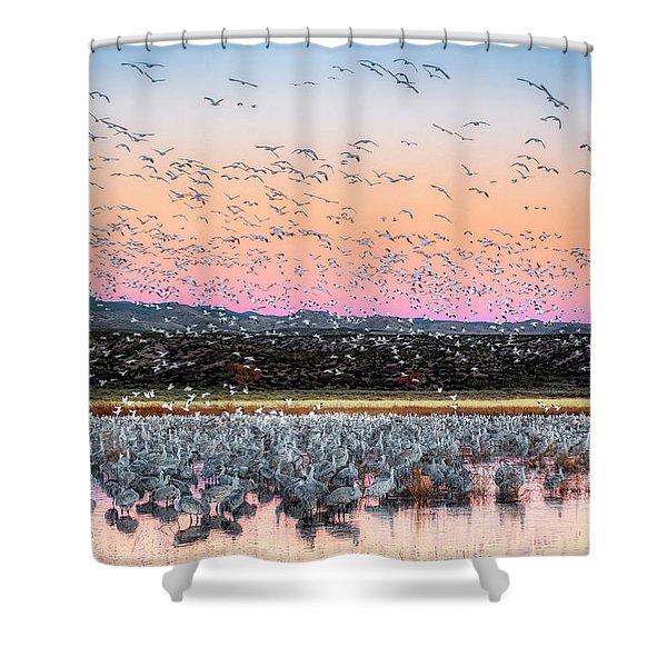 Sunrise At The Crane Pool Shower Curtain