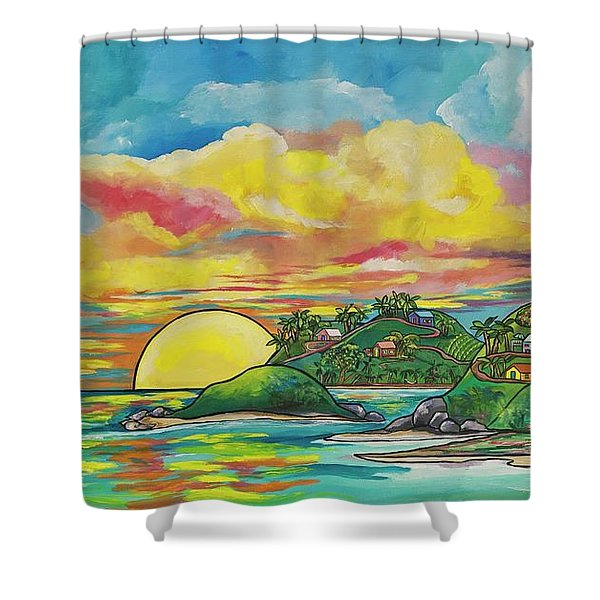 Sunrise At The Islands Shower Curtain