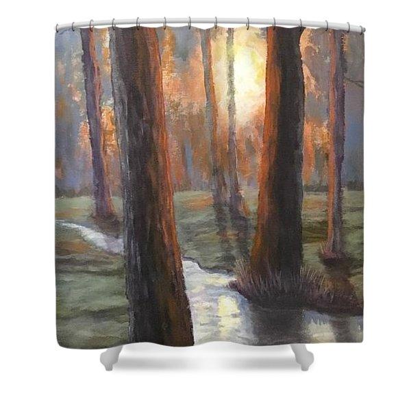 Sunrise Creek Shower Curtain