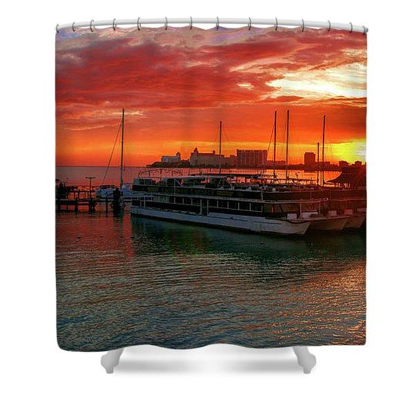 Sunrise In Cancun Shower Curtain