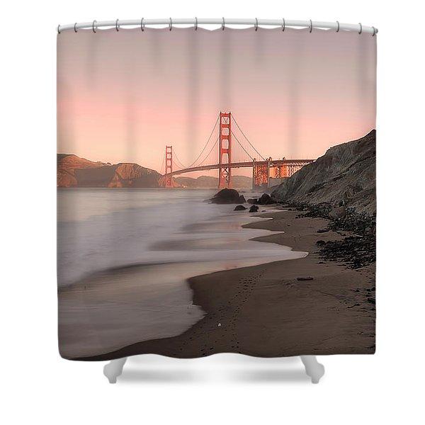 Sunrise In San Fransisco- Shower Curtain