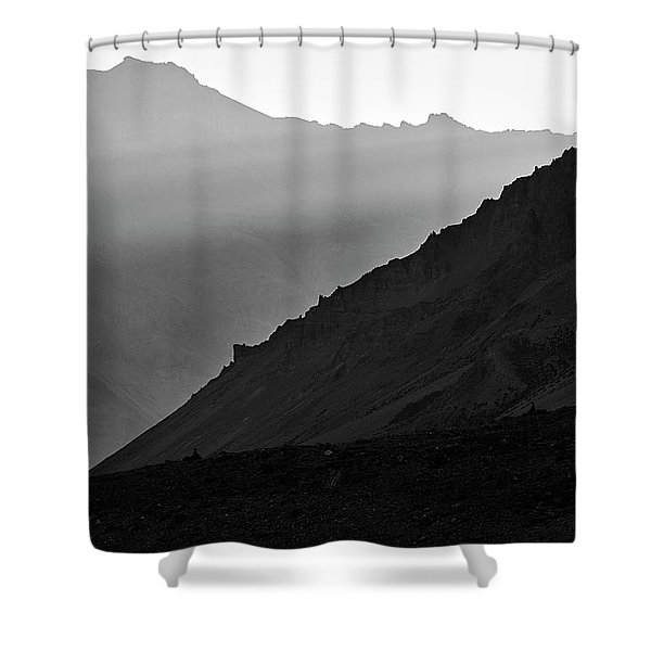 Shower Curtain featuring the photograph Sunrise In The Himalayas by Whitney Goodey