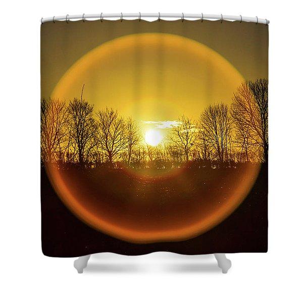 Sunrise. New Years Eve. Shower Curtain
