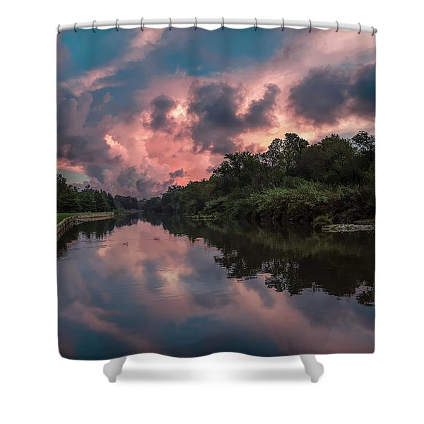 Sunrise On The River Shower Curtain
