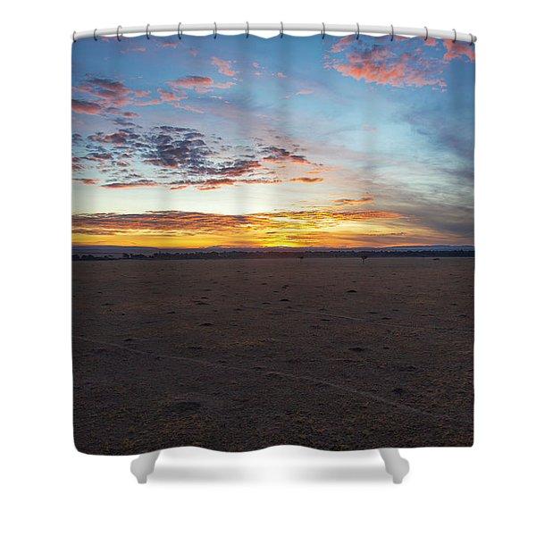 Sunrise Over The Mara Shower Curtain
