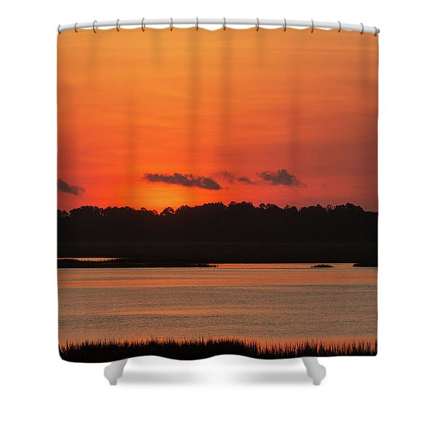 Sunrise Over Drunken Jack Island Shower Curtain