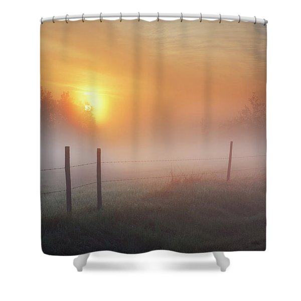 Sunrise Over Morning Pasture Shower Curtain