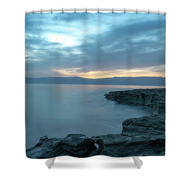 Before Dawn At The Dead Sea Shower Curtain