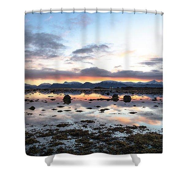 Sunrise Over The Marsh Shower Curtain