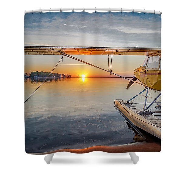 Sunrise Seaplane Shower Curtain