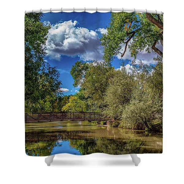 Sunrise Springs Shower Curtain