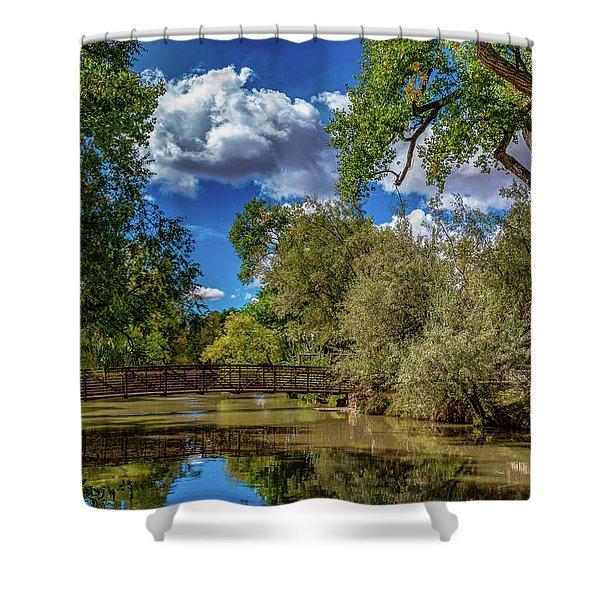 Sunrise Springs Shower Curtain