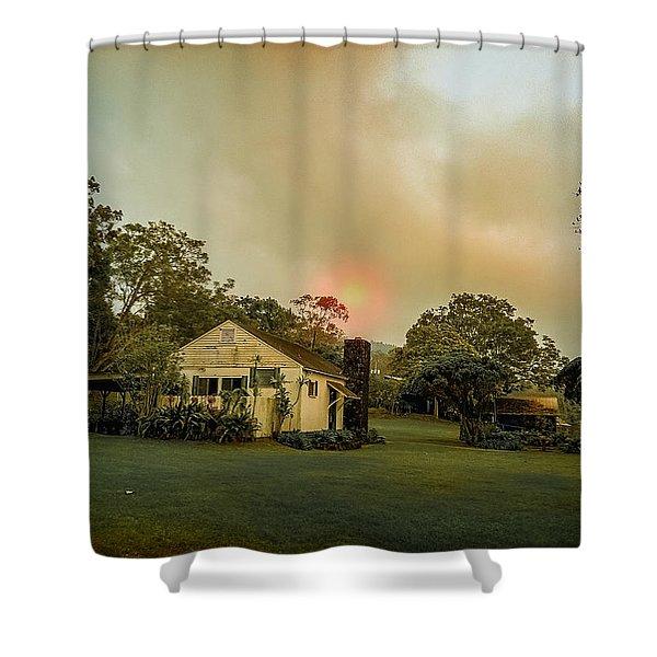 Sunrise Through The Haze Shower Curtain