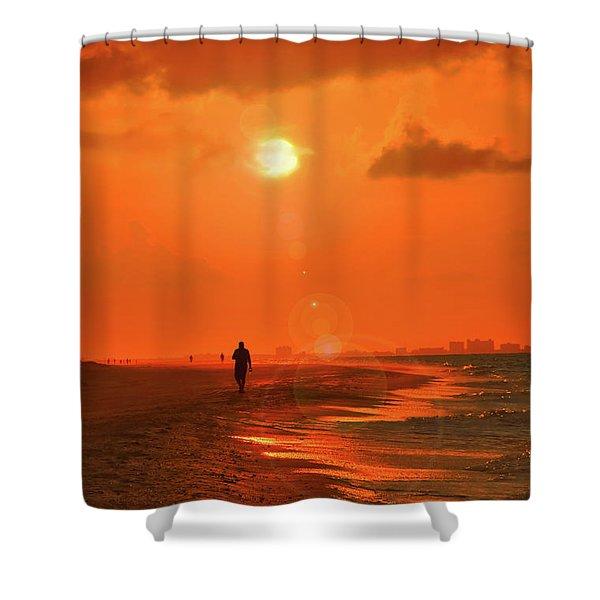 Sunrise Walk On Sanibel Island Shower Curtain